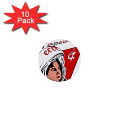 Valentina Tereshkova 1  Mini Buttons (10 Pack)  by Valentinaart