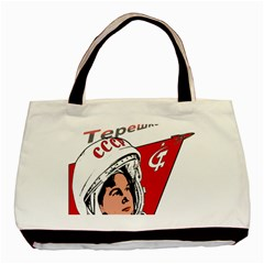Valentina Tereshkova Basic Tote Bag by Valentinaart