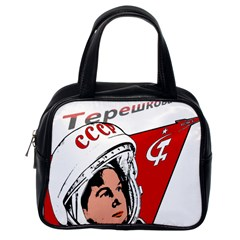 Valentina Tereshkova Classic Handbags (one Side) by Valentinaart