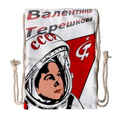 Valentina Tereshkova Drawstring Bag (large) by Valentinaart