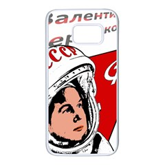 Valentina Tereshkova Samsung Galaxy S7 White Seamless Case by Valentinaart