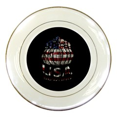 Usa Bowling  Porcelain Plates by Valentinaart