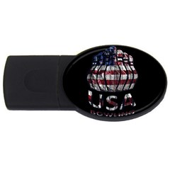 Usa Bowling  Usb Flash Drive Oval (4 Gb) by Valentinaart