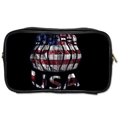 Usa Bowling  Toiletries Bags by Valentinaart