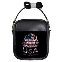 Usa Bowling  Girls Sling Bags by Valentinaart
