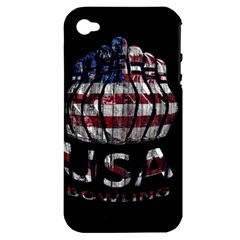 Usa Bowling  Apple Iphone 4/4s Hardshell Case (pc+silicone) by Valentinaart