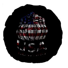 Usa Bowling  Large 18  Premium Round Cushions by Valentinaart