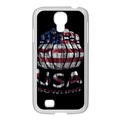 Usa Bowling  Samsung Galaxy S4 I9500/ I9505 Case (white) by Valentinaart