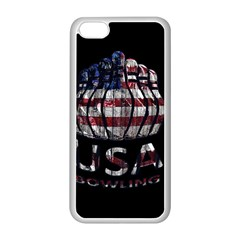 Usa Bowling  Apple Iphone 5c Seamless Case (white) by Valentinaart