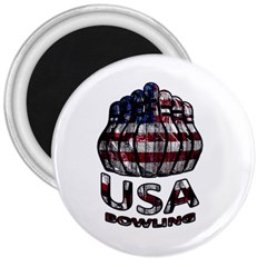 Usa Bowling  3  Magnets by Valentinaart