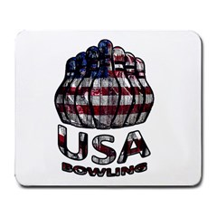 Usa Bowling  Large Mousepads by Valentinaart