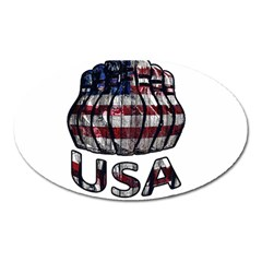 Usa Bowling  Oval Magnet by Valentinaart