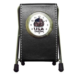 Usa Bowling  Pen Holder Desk Clocks by Valentinaart