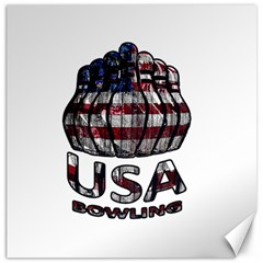 Usa Bowling  Canvas 20  X 20   by Valentinaart