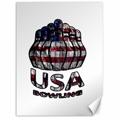 Usa Bowling  Canvas 36  X 48   by Valentinaart