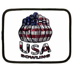 Usa Bowling  Netbook Case (large) by Valentinaart