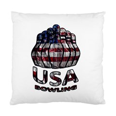 Usa Bowling  Standard Cushion Case (one Side) by Valentinaart