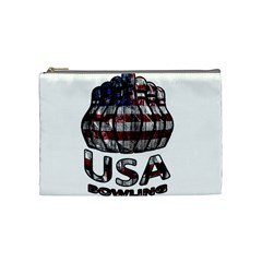 Usa Bowling  Cosmetic Bag (medium)  by Valentinaart