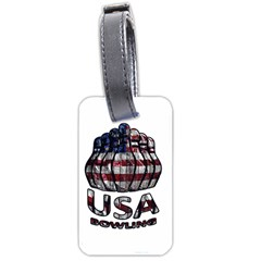 Usa Bowling  Luggage Tags (two Sides) by Valentinaart