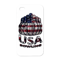 Usa Bowling  Apple Iphone 4 Case (white) by Valentinaart