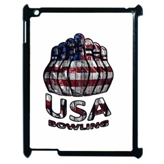 Usa Bowling  Apple Ipad 2 Case (black) by Valentinaart