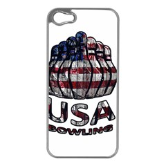 Usa Bowling  Apple Iphone 5 Case (silver) by Valentinaart