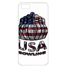 Usa Bowling  Apple Iphone 5 Seamless Case (white) by Valentinaart