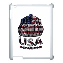 Usa Bowling  Apple Ipad 3/4 Case (white) by Valentinaart