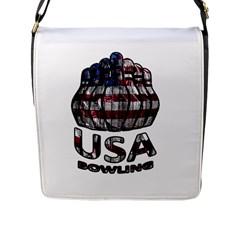 Usa Bowling  Flap Messenger Bag (l)  by Valentinaart