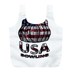 Usa Bowling  Full Print Recycle Bags (l)  by Valentinaart