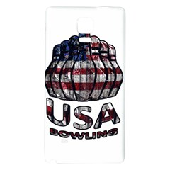 Usa Bowling  Galaxy Note 4 Back Case by Valentinaart