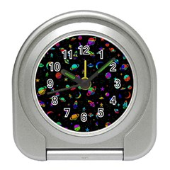 Space Pattern Travel Alarm Clocks by Valentinaart