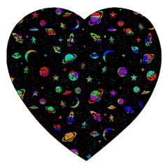 Space Pattern Jigsaw Puzzle (heart) by Valentinaart