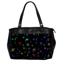 Space Pattern Office Handbags by Valentinaart