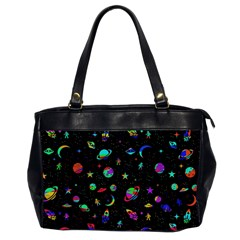 Space Pattern Office Handbags (2 Sides)  by Valentinaart