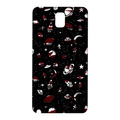 Space Pattern Samsung Galaxy Note 3 N9005 Hardshell Back Case by Valentinaart