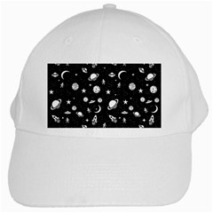 Space Pattern White Cap by Valentinaart
