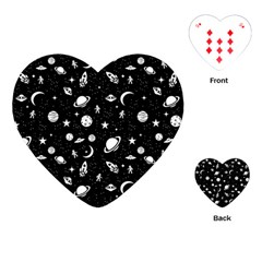 Space Pattern Playing Cards (heart)  by Valentinaart
