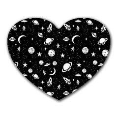 Space Pattern Heart Mousepads by Valentinaart