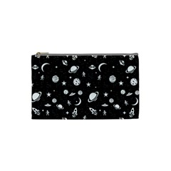 Space Pattern Cosmetic Bag (small)  by Valentinaart