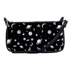 Space Pattern Shoulder Clutch Bags by Valentinaart