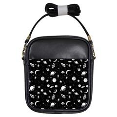 Space Pattern Girls Sling Bags by Valentinaart