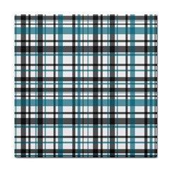 Plaid Pattern Face Towel by Valentinaart