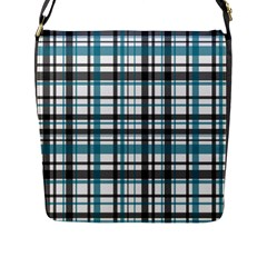 Plaid Pattern Flap Messenger Bag (l)  by Valentinaart