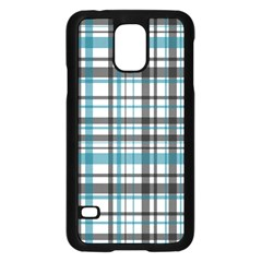 Plaid Pattern Samsung Galaxy S5 Case (black) by Valentinaart