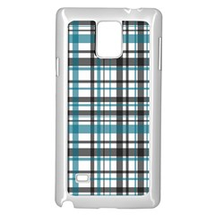 Plaid Pattern Samsung Galaxy Note 4 Case (white) by Valentinaart