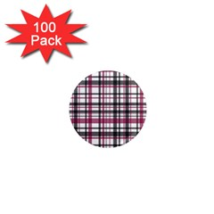 Plaid Pattern 1  Mini Magnets (100 Pack)  by Valentinaart