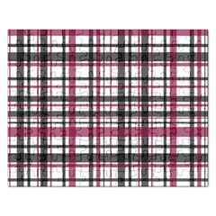 Plaid Pattern Rectangular Jigsaw Puzzl by Valentinaart