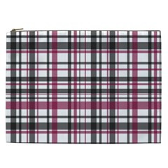 Plaid Pattern Cosmetic Bag (xxl)  by Valentinaart