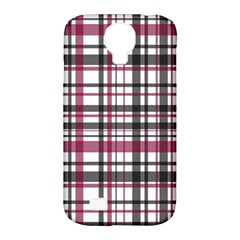 Plaid Pattern Samsung Galaxy S4 Classic Hardshell Case (pc+silicone) by Valentinaart